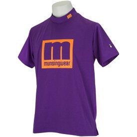 マンシングウェア Munsingwear ENVOY SUNSCREEN mロゴハイネック半袖シャツ メンズ ゴルフウェア 春 夏