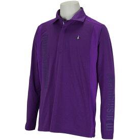 マンシングウェア Munsingwear ENVOY SUNSCREENビッグロゴ長袖ポロシャツ メンズ ゴルフウェア 春 夏