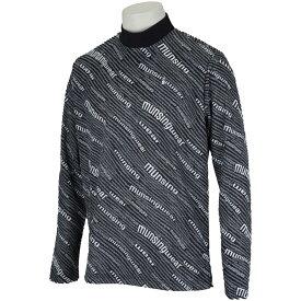 マンシングウェア Munsingwear ENVOY SUNSCREENロゴプリントハイネック長袖シャツ メンズ ゴルフウェア 春 夏