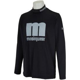 マンシングウェア Munsingwear ENVOY 防風&SUNSCREEN mロゴハイネック長袖シャツ メンズ ゴルフウェア 春 夏