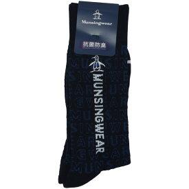 マンシングウェア Munsingwear ロゴ柄総メッシュ編みソックス メンズ ゴルフウェア 春 夏