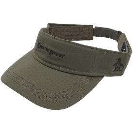 マンシングウェア Munsingwear ワンウォッシュコットンツイル定番ロゴサンバイザー