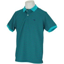 マンシングウェア Munsingwear Manerd裏鹿の子細線ボーダー半袖シャツ メンズ ゴルフウェア 春 夏