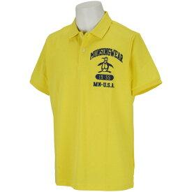 マンシングウェア Munsingwear ピートロゴ刺繍半袖ポロシャツ メンズ ゴルフウェア 春 夏