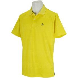 マンシングウェア Munsingwear ボタニカルジャガードボーダー半袖ポロシャツ メンズ ゴルフウェア 春 夏