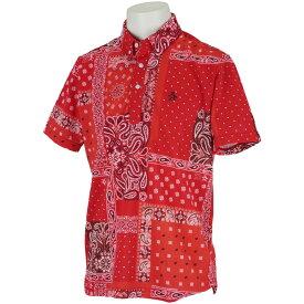 マンシングウェア Munsingwear SUNSCREENアウトラストバンダナプリント半袖ポロシャツ