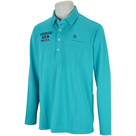 マンシングウェア Munsingwear Coolist D-Tecストレッチ鹿の子長袖ポロシャツ メンズ ゴルフウェア 春 夏
