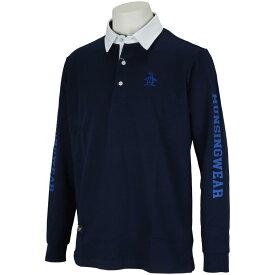 マンシングウェア Munsingwear スラブヤーンWニットスリーブロゴ長袖シャツ メンズ ゴルフウェア 春 夏