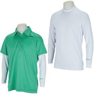 スリクソンゴルフ SRIXON 長袖インナー付きストレッチクロスエンボス半袖シャツ メンズ ゴルフウェア 春 夏