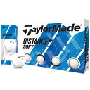 【まとめ割クーポン7〜9%OFF】 テーラーメイド TaylorMade DISTANCE+ Distance+Soft ゴルフボール 1ダース スポーツ ゴルフ用品 ディスタンスプラス おすすめ 人気