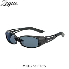 Zeque ゼクー ジールオプティクス ZEAL OPTICS 偏光サングラス 偏光グラス 偏光レンズ VERO 2nd F-1735 SHINY BLACK×MATTE BLACK MASTER BLUE GLE4580274169062