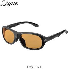 Zeque ゼクー ジールオプティクス ZEAL OPTICS 折りたたみ式偏光サングラス Fifty F-1741 フィフティ フレームMATTE BLACK レンズLUSTER ORANGE GLE4580274167273