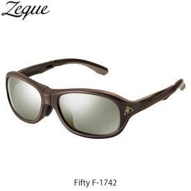 Zeque ゼクー ジールオプティクス ZEAL OPTICS 折りたたみ式偏光サングラス Fifty F-1742 フィフティ フレームSHINY BROWN レンズTRUEVIEW SPORTS×SILVER MIRROR GLE4580274167280