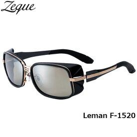 Zeque ゼクー ジールオプティクス ZEAL OPTICS 偏光サングラス Leman レマン F-1520 ブラック×ゴールド トゥルービュースポーツ×シルバーミラー グレンフィールド GLE4580274164937 釣り フィッシング アウトドア メンズ レディース 偏光グラス 偏光レンズ