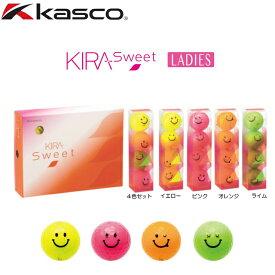【送料無料】kasco キャスコ KIRA Sweet キラ スウィート (キャラ) レディス ゴルフボール 1ダース