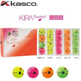 【送料無料】kasco キャスコ KIRA Sweet キラ スウィート (トランプ) レディス ゴルフボール 1ダース