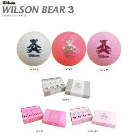 【送料無料】WILSON BEAR3 ウィルソン ベア3 レディス ゴルフボール 1ダース