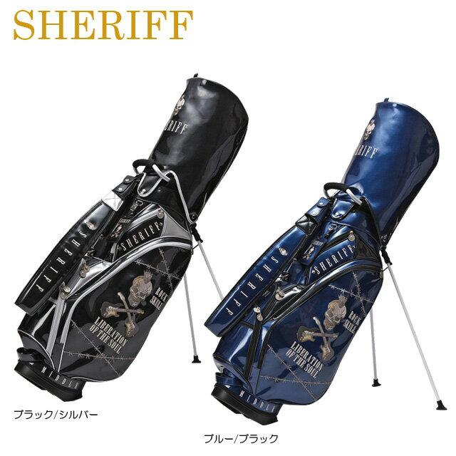 【送料無料】【2018年モデル】【スカルシリーズ】SHERIFF シェリフ 数量限定モデル スタンド キャディバッグ SFS-005