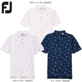 【送料無料 メール便】【2020年モデル】 FOOTJOY フットジョイ バードフロックプリント ライルシャツ 半袖 FJ-S20-S13