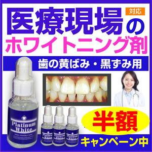 《半額以下!》 歯 ホワイトニング 自宅 歯 美白 マニキュア 歯磨き粉 プラチナムホワイト《送料無料》