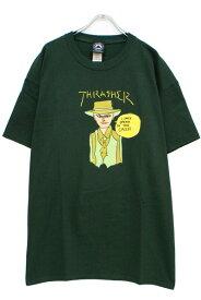 THRASHER 311208 GONZ CASH S/S FOREST GREEN