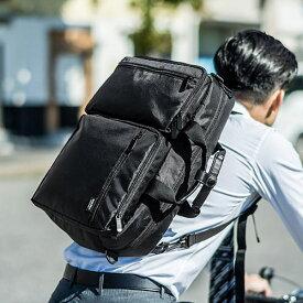 ビジネスバッグ 3WAY 通勤 自転車 リュック 手提げ ショルダー A4 16リットル ナイロン シンプル 15.6型対応 ブラック 200-BAG125BK サンワサプライ