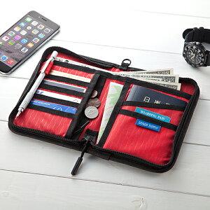 パスポートケース トラベルオーガナイザー 11ポケット 航空券対応 Mサイズ ブラック 200-BAGIN003BK サンワサプライ