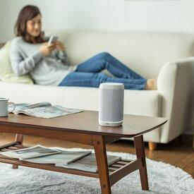 スマートスピーカー アレクサ Amazon Alexa Bluetooth 有線接続対応 microSD再生対応 8W 低音強調ユニット搭載 400-SP072W サンワサプライ