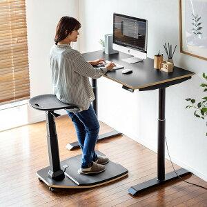 エルゴノミクスチェア 人間工学椅子 高さ調整 スタンディングデスク 上下昇降デスク対応 疲労軽減マット付属 耐荷重125kg キャスター付き ブラック 150-SNCERG11 サンワサプライ