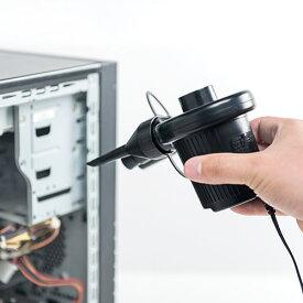 エアダスター 電動 AC電源 シガープラグ 逆さOK ガス不使用 車 200-CD033 サンワサプライ