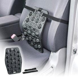 背もたれクッション ランバーサポート 椅子 車 オフィス 固め 持ち運び アウトドア 黒 おすすめ EEX-CHC02