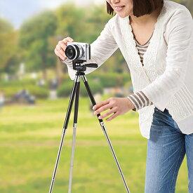 カメラ三脚 コンパクト伸縮 軽量 小型 デジカメ ビデオカメラ 運動会 体育祭 発表会 200-CAM022N サンワサプライ