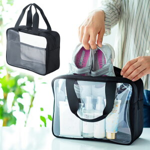 透明バッグ クリア ビーチ スパ トラベル 化粧 トイレタリー 収納 旅行 外湯めぐり おすすめ EEX-BGP05