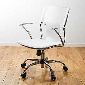 【新品・正規品】レザーチェア スタイリッシュ オフィス ホーム デザイナー ロッキング ホワイト EEZ-SNC018W サンワサプライ