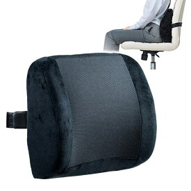 シートクッション 椅子 車 低反発 メッシュ 通気性 姿勢 腰痛 黒 EEX-CHC05