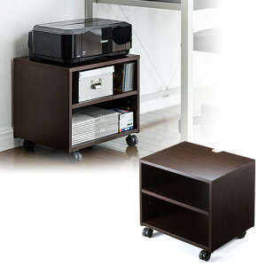 プリンター台 ラック ワゴン キャスター テレビ台 卓上 床置き 収納 3段 ボックス おしゃれ 高さ40cm 幅45cm 100-PS013M サンワサプライ