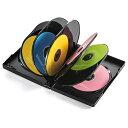 DVDトールケース 12枚収納 ブラック ダブルサイズ 10枚セット 200-FCD058BK サンワサプライ