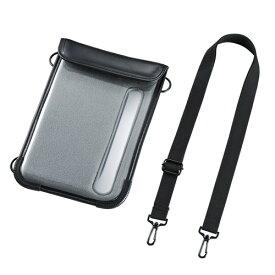 タブレットPCケース iPad mini4 iPad mini3や7〜8インチサイズまでのタブレット対応 保護 耐衝撃 防水 防塵 現場 ショルダーベルト付き PDA-TAB8N サンワサプライ