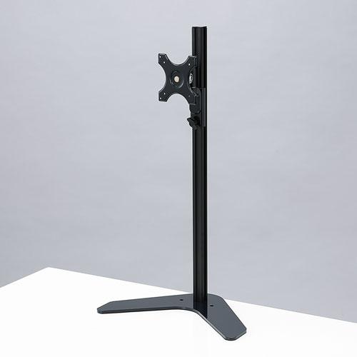 【訳あり 新品】モニタースタンド(1画面・昇降・置き型・自立・ケーブル・VESA・ディスプレイ・ブラック) CR-LA1602 サンワサプライ ※箱にキズ、汚れあり