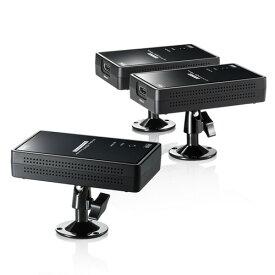 HDMIモニター延長器 エクステンダー ワイヤレス フルHD 2分配 VGA-EXWHD7 サンワサプライ