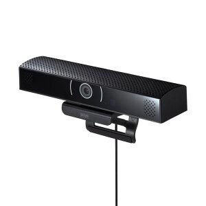 WEBカメラ スピーカ内蔵 広角レンズ 200万画素 USBポートつき Skype スカイプ Zoom ズーム ブラック CMS-V48BK サンワサプライ