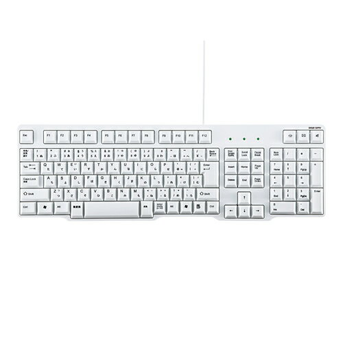 【訳あり 新品】USBキーボード(排水機能付き・ホワイト) SKB-L1U サンワサプライ