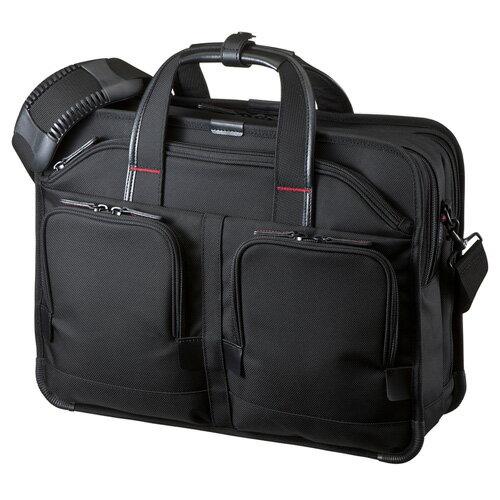 【訳あり 新品】ビジネスバッグ(PRO・ダブルタイプ・15.6型ワイドまで対応・ブラック) BAG-EXE8 サンワサプライ ※箱にキズ、汚れあり