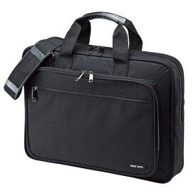 パソコンバッグ ビジネス ノートPC 15.6型ワイド シングル ブラック BAG-U52BK2 サンワサプライ