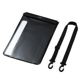 防水防塵タブレットケース スタンド ショルダーベルト付き 12.9インチ ブラック PDA-TABWPST12 サンワサプライ