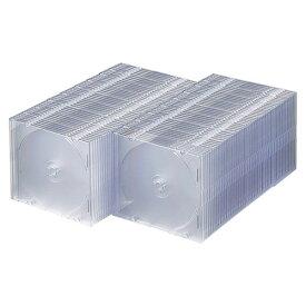 DVD CDプラケース 100枚セット クリア 5mm FCD-PU100C サンワサプライ