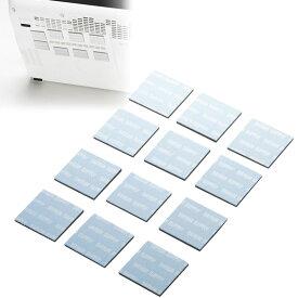 小さいパッドを機器に貼るだけで強力放熱、ノートパソコン冷却パット 17mm 角型 12枚入り ブルー TK-CLNP12BL サンワサプライ【ネコポス対応】