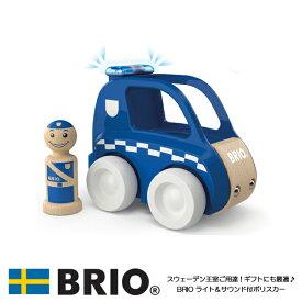 【10%OFFクーポン配布中】【送料無料】 ライト&サウンド付ポリスカー 30377 おもちゃ ブリオ トドラー トドラーシリーズ 木製