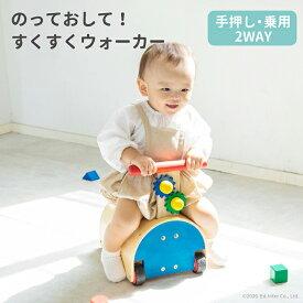 【びっくり特典あり】【名入れサービスあり】【送料無料】 のっておして!すくすくウォーカー 知育玩具 教育玩具 乗用玩具 森のあそび道具シリーズ エドインター