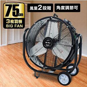 ナカトミ BF-75V 業務用扇風機 大型工場扇 工業扇 75cm 全閉式 ビッグファン 企業法人向け 扇風機 産業扇 循環 換気 送風機 75cm羽根 キャスター付き 業務用 扇風機 送風機 大型 ファン サーキュ